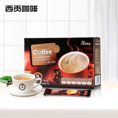 越南进口西贡咖啡 特浓味540g(36杯)盒装 Sagocoffee三合一速溶咖啡粉