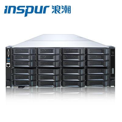 浪潮(INSPUR)NF5468M5 四路機架式服務器人工智能高性能計算深度學習服務器 2顆5218 64核2.3G四電 8顆2080Ti/256G/3塊2.4T/0820P陣列卡