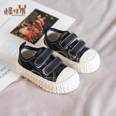 宝宝春秋帆布鞋休闲小童鞋子5男百搭女婴儿小白鞋1-3岁秋季学步鞋