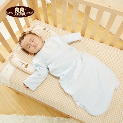 良良(liangliang)寶寶純棉一體睡袋保暖舒適可拆袖寶寶睡袋 80cm