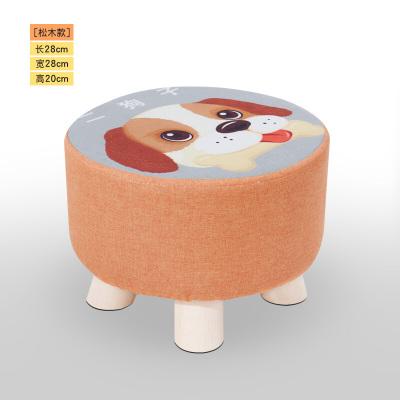 棉麻榻榻米墊子家用茶道地板打墩可拆洗布藝方圓形飄窗坐墊凳 25高櫸木圓形二貓子凳