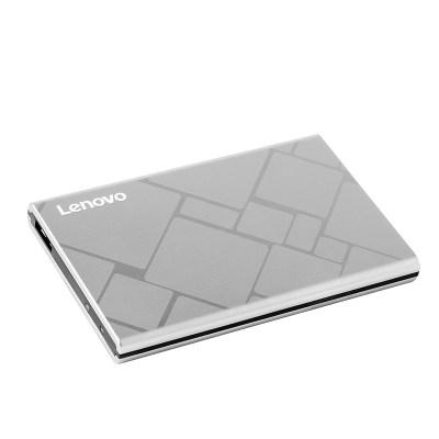 联想移动硬盘F360Pro 2TB高速传输USB3.0纤薄机身合金外壳金属银
