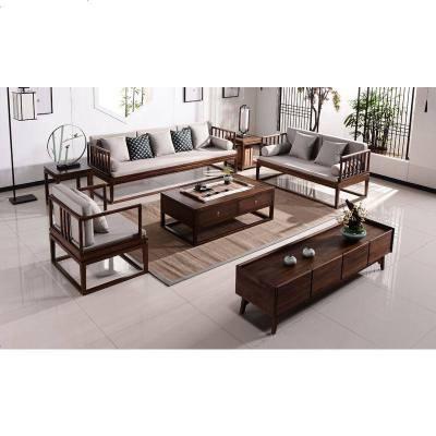 枳記家 禪意新中式實木沙發組合羅漢床現公室樣板房會所古典家具定制