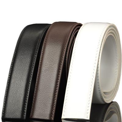 新款自动扣带身14纹男士真皮牛皮带荔枝纹带条配3.1-4.0自动扣头使用 男