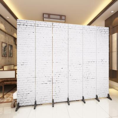 淮木歐式隔斷墻裝飾屏風折疊酒店時尚簡約辦公室客廳移動簡易隔板折屏8扇防水防透加板備注圖案編號