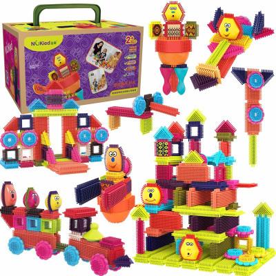 纽奇Nukied 鬃毛儿童积木玩具 男孩女孩早教拼插玩具软积木 108件套餐(箱装)