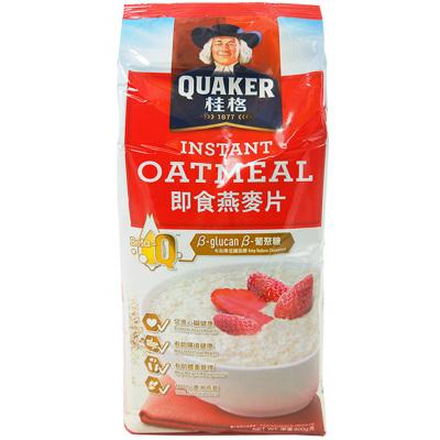 马来西亚进口 桂格 即食 燕麦片 谷物冲饮 原味800g |袋装免煮代餐营养麦片早餐