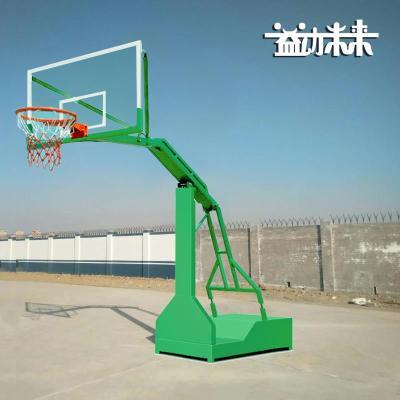 益动未来户外标准移动篮球架 加厚钢化玻璃板 成人篮球架 凹箱篮球架 单只价格