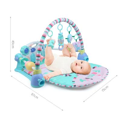 貝恩施嬰兒腳踏琴鋼琴健身架器新生兒寶寶音樂兒童玩具 腳踏琴健身架(護欄款)B213