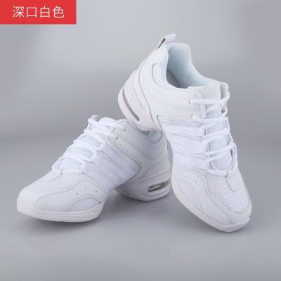 因樂思(YINLESI)網面女成人廣場舞鞋女2018運動舞蹈鞋爵士舞鞋軟底現代跳舞鞋XH
