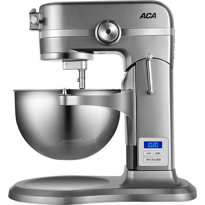 北美電器(ACA)升降廚師機ASM-DE1800家用多功能和面機鑄鋁機身金屬齒輪料理機揉面機