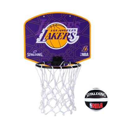 斯伯丁SPALDING籃球板湖人隊徽小籃板兒童娛樂77-628Y送mini小球掛式籃球板(娛樂)