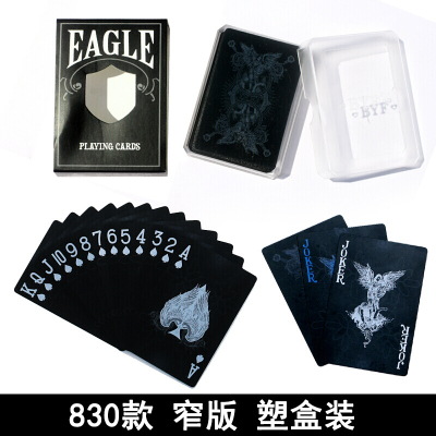 因樂思(YINLESI)塑料撲克牌創意黑色防水收藏撲克道具飛牌花切撲克斗地主卡牌