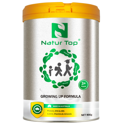 Natur Top諾崔特澳洲原裝進口含DHA無蔗糖/葉黃素/鋅/鐵 3歲以上兒童及青少年學生成長高鈣牛奶粉900g