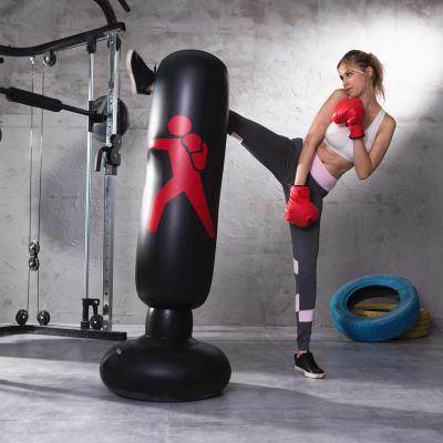 健身锻炼儿童充气拳击柱不倒翁成人泄加厚沙袋减压拳击立式沙包