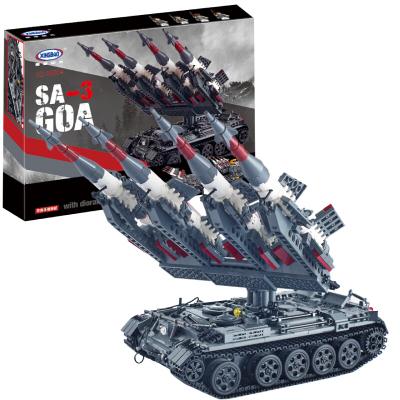 星堡穿越火線軍事模型兼容樂高小顆粒立體拼插拼裝積木飛機坦克大炮人仔男女孩 SA-3導彈+T5坦克06004【1753塊】