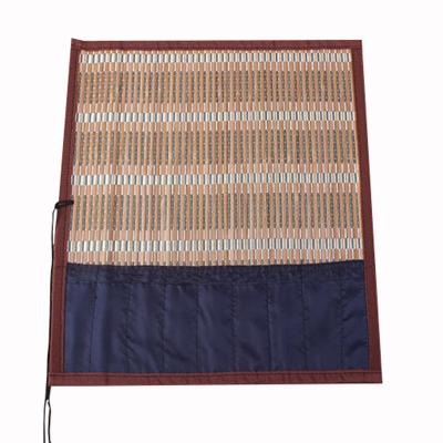 可定制竹帘 竹卷 带布学生笔帘笔袋 毛笔笔帘文房用品