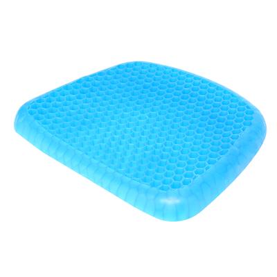 ZHUAX汽車座墊雞蛋坐墊車用辦公室減壓椅子冰墊夏季學生涼墊夏天免注水車載凝膠坐墊透氣椅墊軟墊降溫蜂巢蜂窩多功能單件