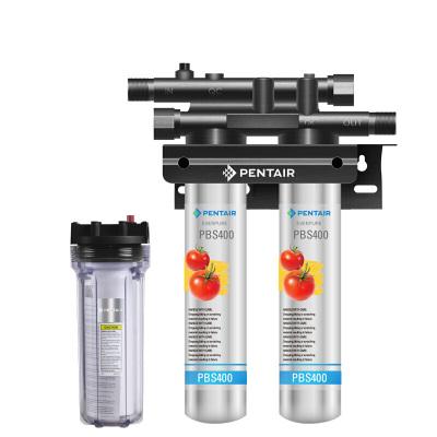 愛惠浦(everpure)凈水器 家用 廚下式凈水機 PBS-400T 升級雙聯款 超大制水量超大流量抑制水垢保留礦物質