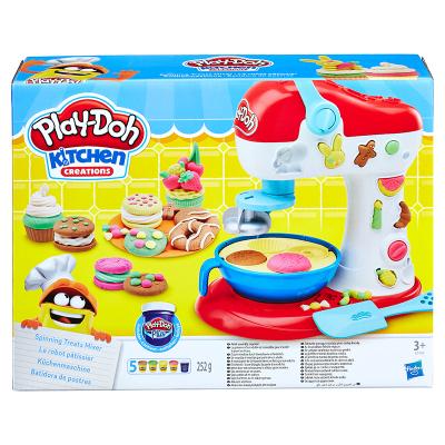 孩之寶HASBRO培樂多6-10色創意廚房系列彩泥橡皮泥DIY3歲以上男女孩兒童玩具禮物 花樣蛋糕套裝E0102