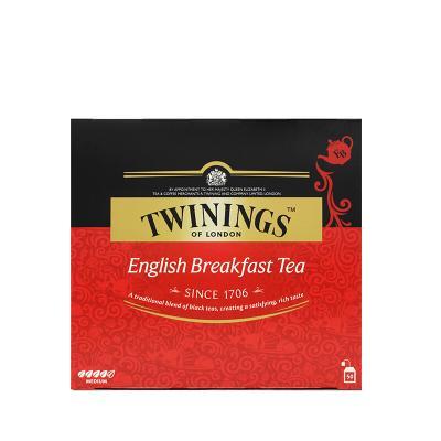 英国川宁(TWININGS) 英式早餐红茶100g袋泡茶包(2g*50包) 波兰进口茶叶饮品