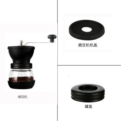 手磨咖啡機古達磨豆器咖啡磨豆機可水洗手搖研磨器手動小型家用磨粉機 磨豆機+磨豆機蓋+罐蓋