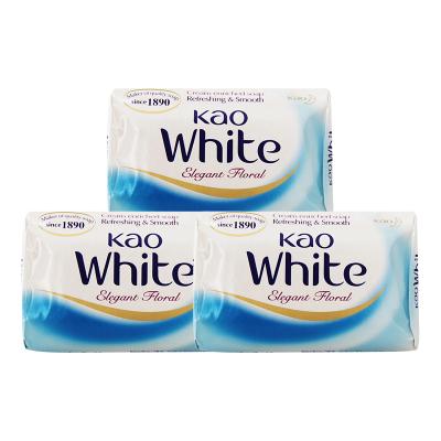 花王(KAO) 日本原裝進口 花王kao可潔面泡沫肥皂 爽膚沐浴香皂130g 3塊裝