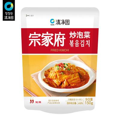 清凈園宗家府炒泡菜150g*5 辣白菜咸菜方便面伴侶下飯菜配菜