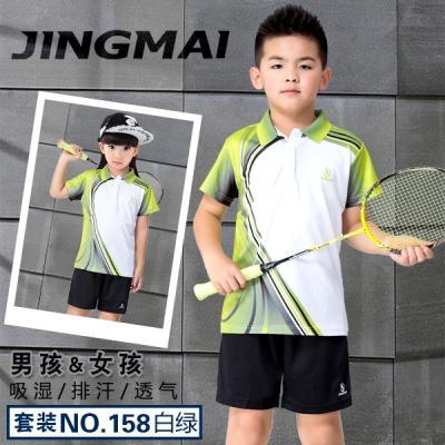儿童羽毛球服套装男童乒乓球服小学生短袖短裤女童女孩速干运动服