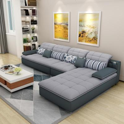 梦引 北欧布艺沙发乳胶大小户型客厅科技布简约现代可拆洗整装家具组合
