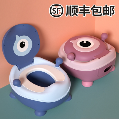 兒童馬桶坐便器男孩女寶寶小孩嬰兒幼兒大號便盆尿盆尿桶廁所座便【經典款】硬座-藍色