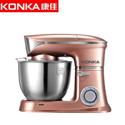 康佳(KONKA)KM-903厨师机家用和面机多功能揉面机搅拌机打蛋器料理机电子式旋钮式 玫瑰金五合一