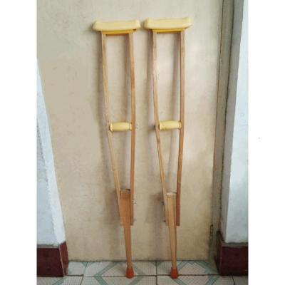 老年殘疾人可調節雙拐木質腋下拐杖拐棍木頭拐杖水曲柳 泡沫把水曲柳拐