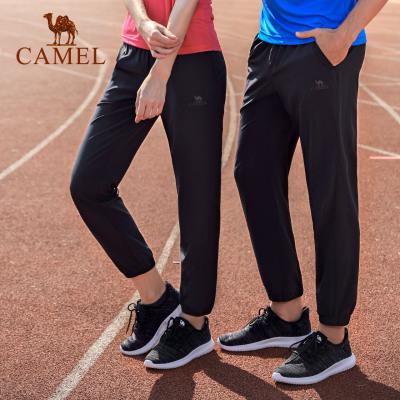 CAMEL骆驼户外运动裤 2019春夏新款情侣款男女透气耐磨跑步健身针织运动长裤