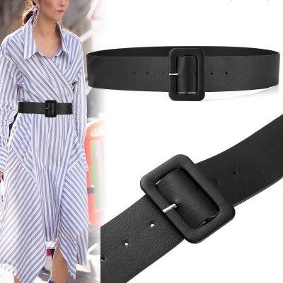 超级新品 腰带女士宽配裙子衬衫装饰腰封时尚简约百搭束腰显瘦黑色皮带