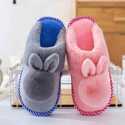 莎丞 新款秋冬季儿童棉拖鞋男女童宝宝可爱防滑保暖室内亲子一家棉拖鞋