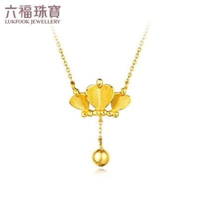 六福珠宝 心形皇冠 黄金套链 足金 项链女款计价HXG30111