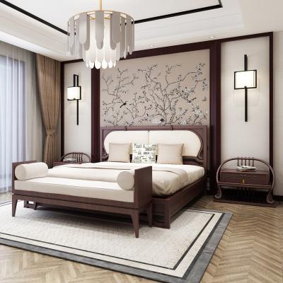 梦引 源林家具新中式实木床禅意1.8米双人床小户型1.5米卧室成套家具