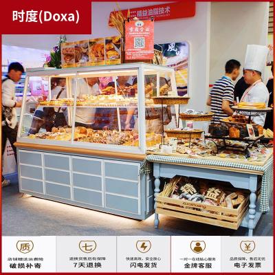 蘇寧放心購面包展示柜鐵藝中島柜面包店陳列柜糕點邊柜移蛋糕展示柜面包架時度(Doxa)