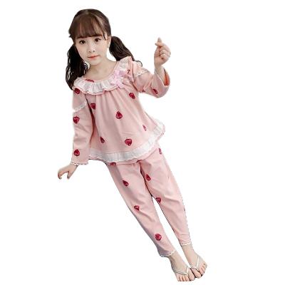 女童睡衣春季纯棉长袖公主风居家服中大童薄可爱韩版新款空调家居服套装 威珺
