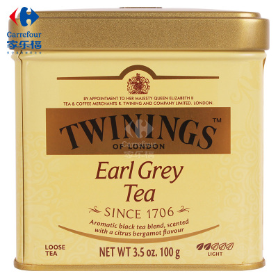 【家乐福】川宁(Twinings)豪门伯爵茶100克