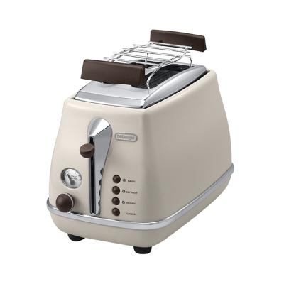 德龍(DeLonghi) CTOV2103家用吐司機 烘烤 加熱 解凍 取消按鍵 2片式多士爐 早餐機 奶白