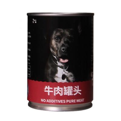 狗罐頭幼犬牛肉拌飯寵物零食泰迪小狗金毛雞肉濕糧肉粒成犬通用 牛肉 6罐(375gx6)