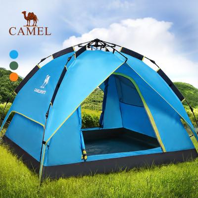 CAMEL骆驼户外帐篷 3-4人全自动速开双层遮阳防雨野外露营帐篷