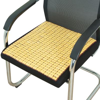 夏天麻將涼席坐墊夏季辦公室電腦椅子餐椅墊汽車竹墊學生透氣防滑 牛筋碳化 50*50cm