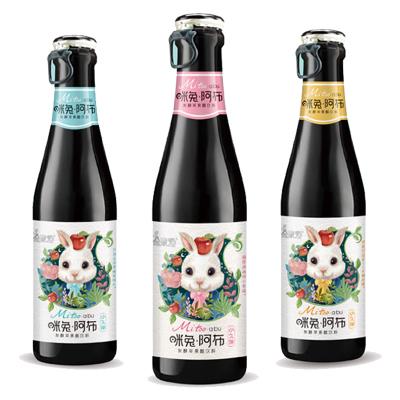 金果源 高端款 咪兔阿布酵素苹果醋饮料260ml苹果汁醋饮品