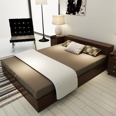 擇木宜居 床 雙人床 單人床 木床板式床 婚床 1.2米床 1.5米床 1.8米床 實木排骨架子床