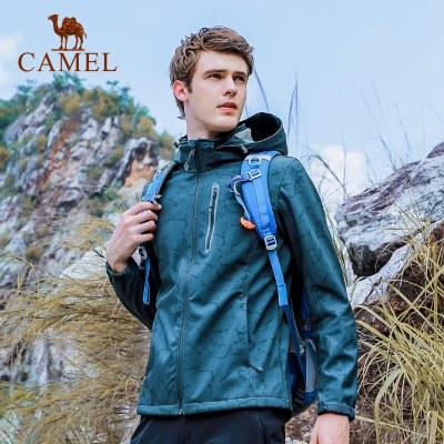 CAMEL駱駝戶外軟殼衣 秋冬情侶款男女防風保暖軟殼衣外套