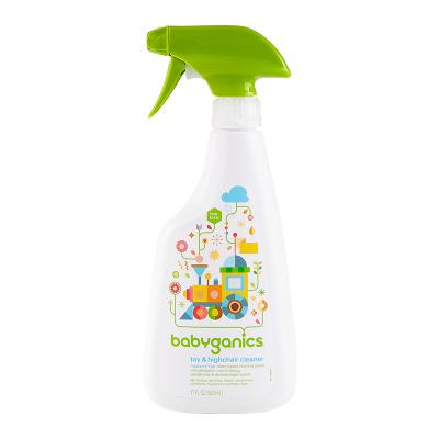 美国进口甘尼克(baby ganics)天然宝宝玩具清洁液免洗 婴儿餐桌椅喷雾剂用品消毒清洗剂502ml