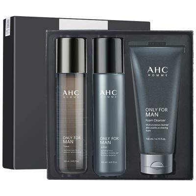 【男神摯愛】AHC 男士護膚品水乳潔面三件套 提亮膚色 緊致肌膚 面部護膚套裝